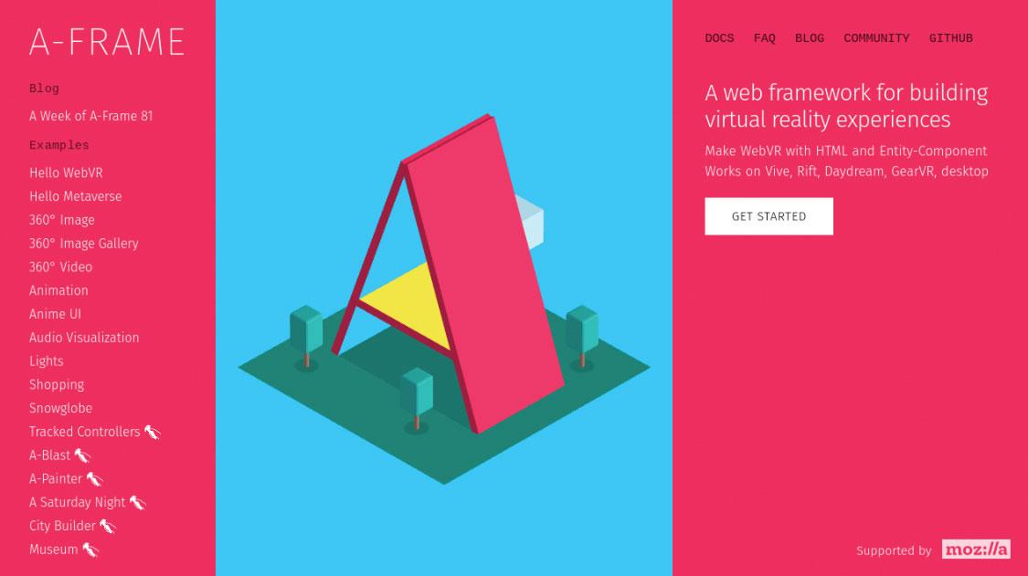 A-Frame homepage