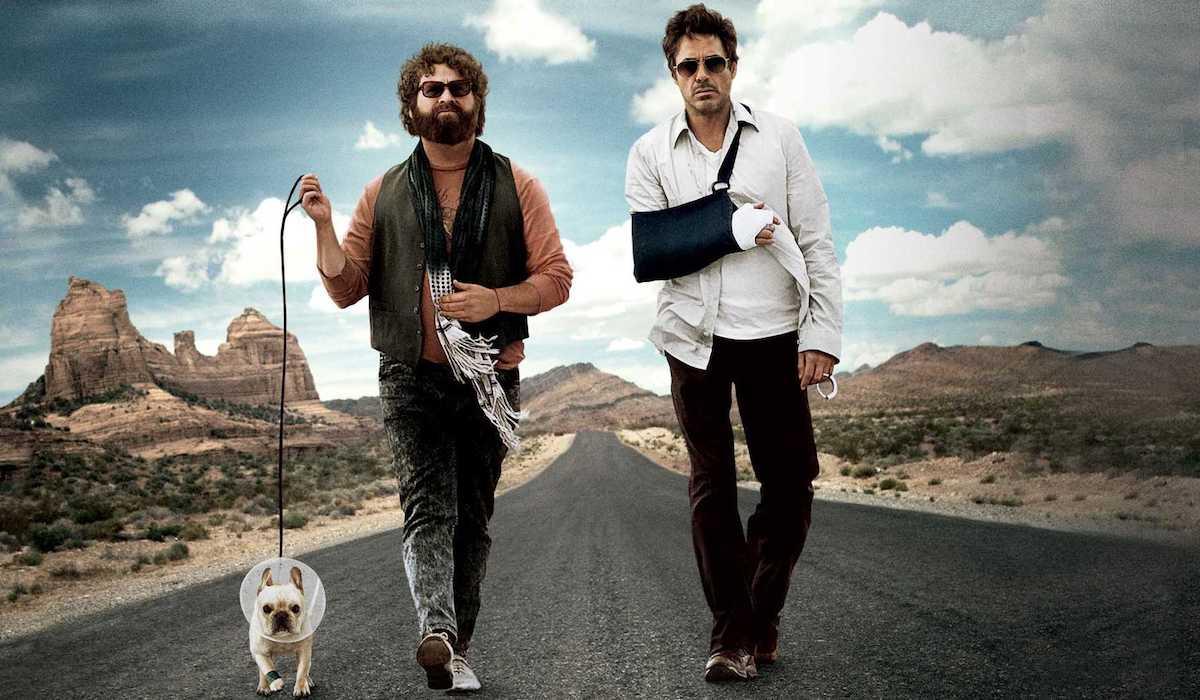 Zach Galifinakis and Robert Downey Jr in Due Date