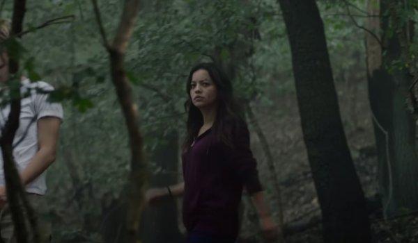 Terminator: Dark Fate Dani Ramos walking through the woods