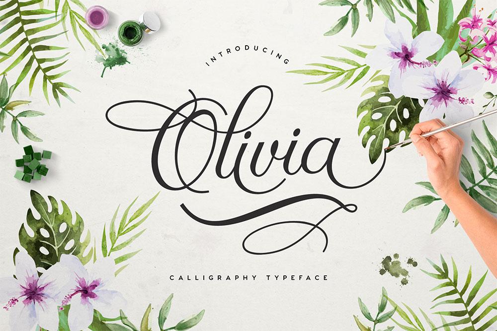 Calligraphy fonts: Olivia