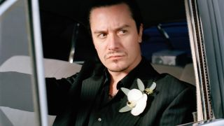 Mike Patton driving a car