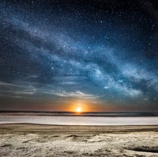 Moonrise Over Ocean City, New Jersey
