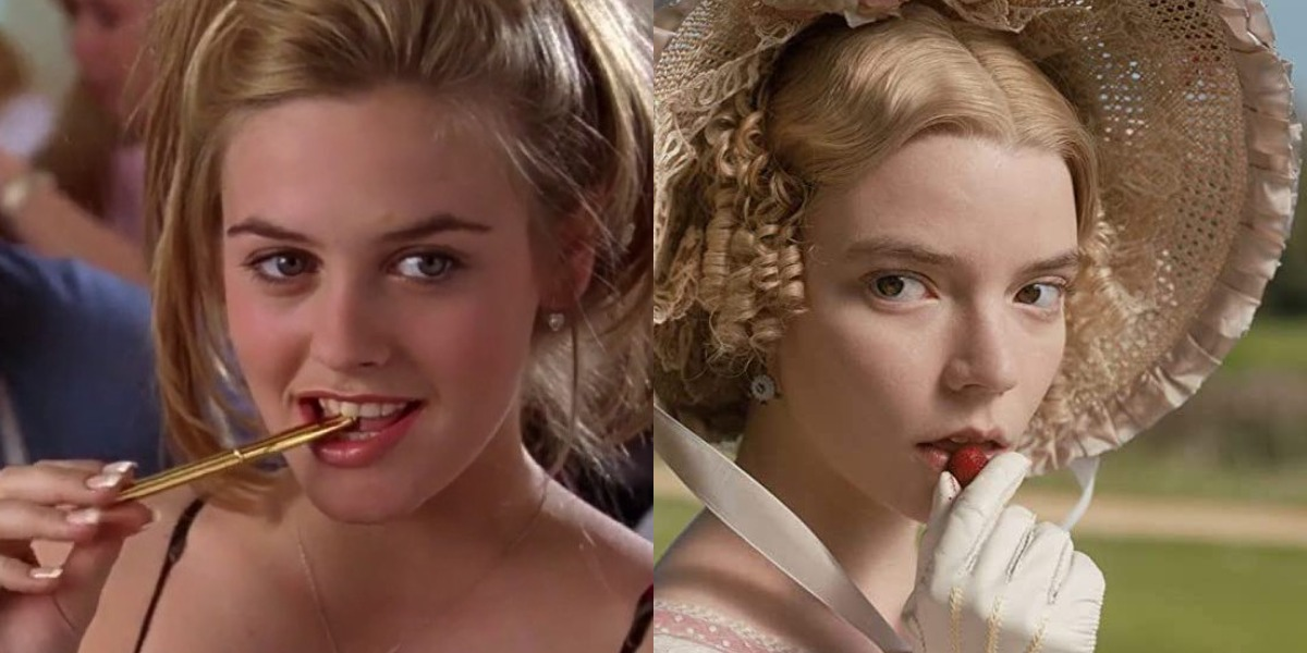 Alicia Silverstone in Clueless and Any Taylor-Joy in Emma