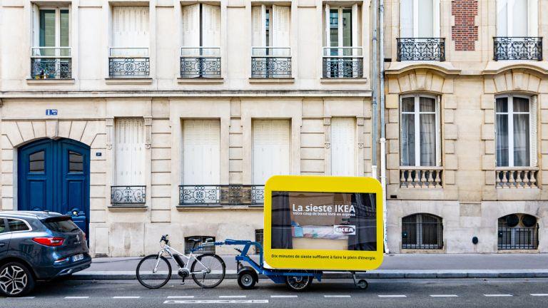 IKEA sleep pods in Paris