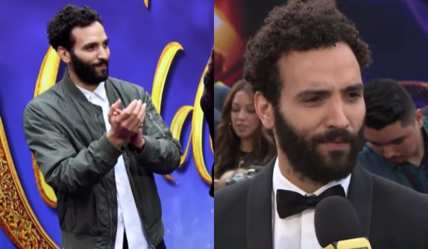 Marwan Kenzari casual and formal outfits at Aladdin's premieres