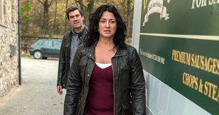 Moira Dingle recklessly heads out to get in the van and Cain Dingle goes after her but fails to stop her from setting off. Seeing the danger before him Pete Barton rushes to push Jacob Gallagher out of the way of the vehicle but ends up being knocked down himself in Emmerdale.