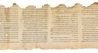 The Temple Scroll is a Dead Sea Scroll available online.