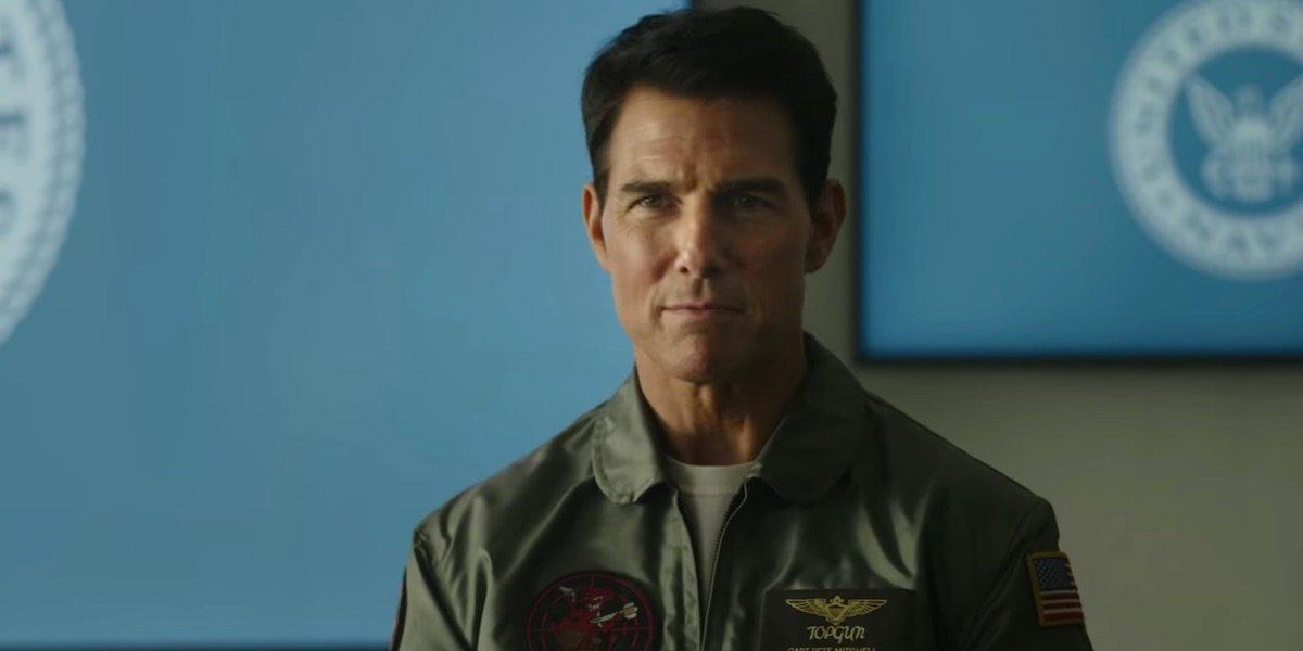 Tom Cruise in Top Gun: Maverick's trailer