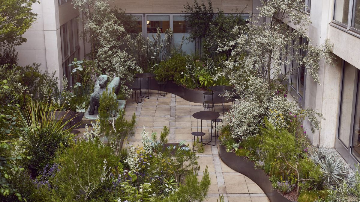 Hermès's mythical-inspired garden brings the allure of a Parisian rooftop to London's Mayfair