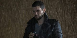Billy Russo (Ben Barnes) with a scope in the rain in The Punisher Season 2