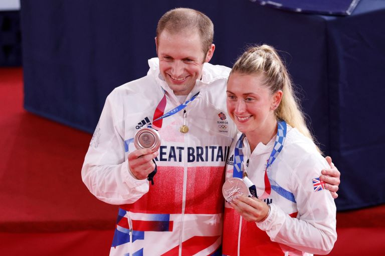 Jason and Laura Kenny winning silver medals before both taking golds later in the week