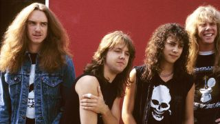 Metallica backstage at Monsters Of Rock Festival